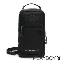 PLAYBOY- 單肩背包 allblack系列 -黑色