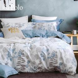 R.Q.POLO  100%精梳棉 四件式兩用被床包組 清風徐來(加大)