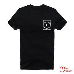 Minidesign-口袋造型潮流設計短T 五色