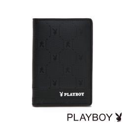 PLAYBOY- 護照夾 黑暗騎士upgrad系列 -黑色