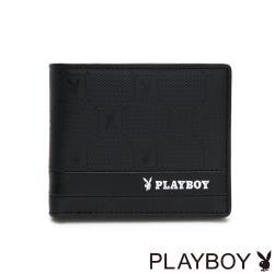 PLAYBOY- 中翻短夾可拆式 黑暗騎士upgrad系列 -黑色