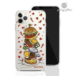【Hong Man】三麗鷗系列 iPhone 11 Pro Max 6.5吋 手機殼套裝組 蛋黃哥 千層漢堡