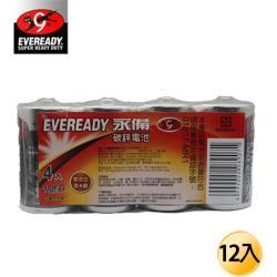 EVEREADY永備-黑金鋼 碳鋅電池1號12入