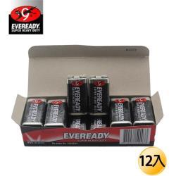 EVEREADY永備-黑金鋼 碳鋅電池9V12入