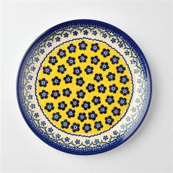 波蘭陶 黃釉青花系列 圓形餐盤 19cm 波蘭手工製