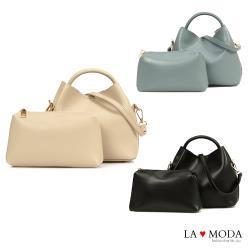【La Moda】實用百搭多背法大容量肩背手提子母包小包(共3色)