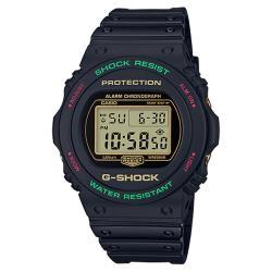 【CASIO 卡西歐】G-SHOCK 紅綠雙色幾何氛圍手錶-黑(DW-5700TH-1)