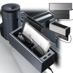 【BASEUS】倍思 豪華扶手箱儲物盒/車用縫隙儲物盒 /零錢收納置物盒 / 車用收納架