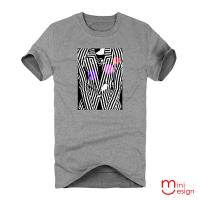 Minidesign-高反差西裝影像潮流設計短T 五色
