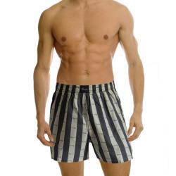 【Paloma】台灣製條紋平織平口褲-灰 內褲 男內褲 四角褲