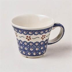 波蘭陶 紅點藍花系列 寬口茶杯 240 ml 波蘭手工製