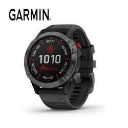 GARMIN Fenix 6 Pro Solar 太陽能系列-進階複合式戶外GPS腕錶 -石墨灰DLC錶圈/黑色錶帶:010-02410-43