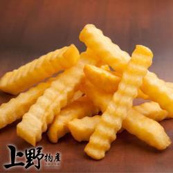 【上野物產】比利時街頭小吃 香脆波浪馬鈴薯條(250g±10%/包) x12包