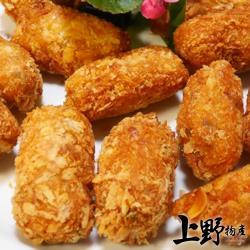 【上野物產】台灣製品酥脆杏仁蝦酥(300g±%/10條/包) x6包