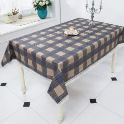 【BonBon naturel】小清新防水防油桌巾(經典藍格)-100*140cm #3035