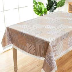 【BonBon naturel】小清新防水防油桌巾(幾何花磚)-100*140cm #3028