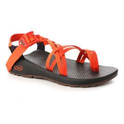 美國Chaco。女 越野舒壓運動涼鞋-雙織夾腳款CH-ZLW04HG13 (石榴紅虎)