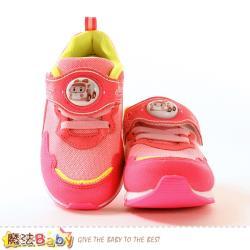 魔法Baby 女童鞋 POLI卡通正版安寶款閃燈運動鞋 電燈鞋~sa01203