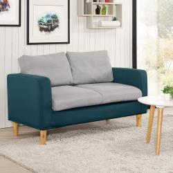 【臥室自由配】Boden-菲斯克雙色布沙發雙人椅/二人座