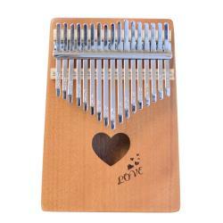 KAKA 卡林巴 專業17音 拇指琴 全單板桃花心木(愛心款) KALIMBA 姆指琴
