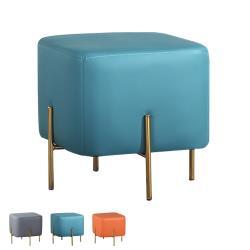 Boden-現代風尚皮革方型小椅凳/沙發腳椅/矮凳/小椅子(三色可選)