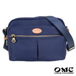 【OMC】甜美費南雪方塊斜背包(藍色)