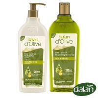 【土耳其dalan】頂級橄欖油極滋養PH5.5保濕沐浴露400ml+橄欖油高效滋養身體修護乳液400ml