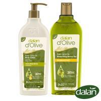 【土耳其dalan】頂級橄欖油佛手柑PH5.5舒活沐浴露400ml+橄欖油高效滋養身體修護乳液400ml