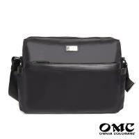 【OMC】尊榮品味大容量橫式商務斜背包