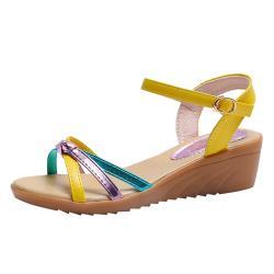 【Alice 】 (預購) 時尚穿搭狂賣千雙楔型涼鞋