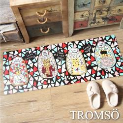 TROMSO-廚房防油皮革地墊_45x120cm K333繽紛生活