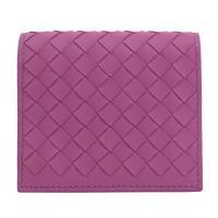 BOTTEGA VENETA 390881 編織小羊皮扣式名片夾.暮光紫