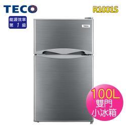 限時破盤7折↘TECO東元 100L一級雙門小冰箱R1001S爵士灰