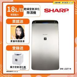 送Jo Malone 橙花古龍水 1.5ml 2入 SHARP夏普 一級能效18L 新衣物乾燥空氣淨化除濕機(具HEPA等級) DW-J18T-N
