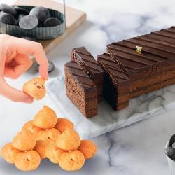 【艾波索】巧克力黑金磚(18公分x1入)贈泡芙小時候(口味隨機) |蘋果日報蛋糕評比冠軍|乳酪蛋糕、母親節蛋糕、情人節禮物、生日蛋糕推薦