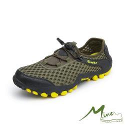 【MINE】透氣縷空網面透氣超輕量機能戶外涉水登山溯溪鞋 綠