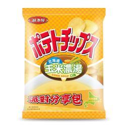 湖池屋 洋芋片平切(北海道玉米濃湯口味)150g(派對分享包)