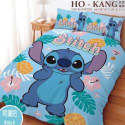 HO KANG 卡通授權 單人兩件式床包組 - 史迪奇 阿囉哈