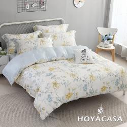 HOYACASA  加大抗菌天絲兩用被床包四件組-羅曼花都