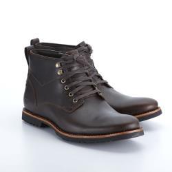 Timberland 男款深咖啡色全粒面皮革休閒鞋A1SUH