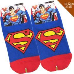 兒童襪子DC正義聯盟超人童襪短襪直版襪3入組15-22cm 109257【卡通小物】