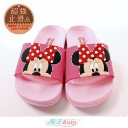 魔法Baby 女鞋 迪士尼米妮授權正版軟Q緩震時尚拖鞋~sk1049