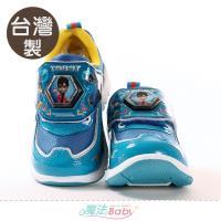 魔法Baby 男童鞋 台灣製機器戰士動漫正版閃燈運動鞋 電燈鞋 電燈鞋~sa00606