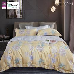 DUYAN竹漾- 天絲雙人床包被套四件組-金色和弦