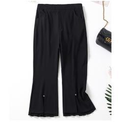 麗質達人 - 11421黑色小喇叭褲