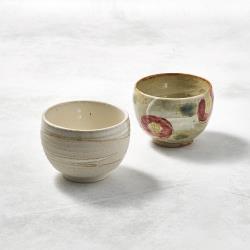 有種創意 - 日本美濃燒 - 手感和風茶杯 - 山茶對杯組(2件式)