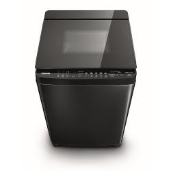 TOSHIBA 東芝 勁流雙渦輪超變頻13公斤洗衣機 科技黑 AW-DG13WAG