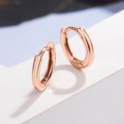 【Emi艾迷】韓系極簡系列光潤環繞耳環