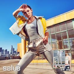 【salua 韓國進口】義大利美腿褲/鍺能量塑腰帶 (超值2件組)