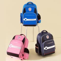 DF 童趣館 - 英倫時尚大容量減壓護脊兒童後背書包-共3色